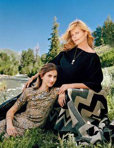 Hemingway-- Mariel Hemingway with her daughter Langley Fox