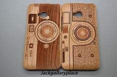 WANT!!!!!!!!!!  camera cherry wood htc one case htc one m7 by jackgallaryplace, $27.49