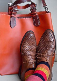 Ben Sherman shoes, Aldo socks, Nardelli tote - Tumblr   #menstyle #menswear #menscouture #mensfashion #instafashion #fashion #hautecouture #sartorial #sprezzatura #style #dapper #dapperstyle #pocketsquare
