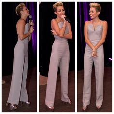 .@Skinny Hipster   @Miley Cyrus in a backless jumpsuit by Maison Martin Margiela. #fashion #skinn...