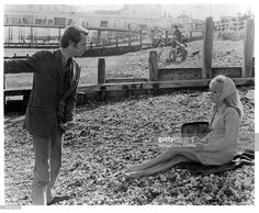 Carol White& Ken Loach...in a scene from the film 'Poor Cow', 1967.