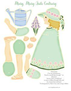 Geschichte buchen gegliederte Papier Puppe Mary von hedgehogstudio