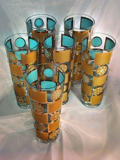 Turquoise vintage tumblers...
