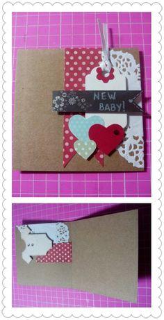 Cartão new baby - Scrap da Ari