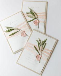 A beleza das coisas simples: convites de casamento