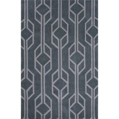 Fusion Polyester Hand Tufted Blue Area Rug