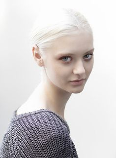 Nastya Kusakina, a model with flawless skin and hair. Proof that pale skin is no… – Care – Skin care , beauty ideas and skin care tips Blonde Beauty, Hair Beauty, Hair Pale Skin, Dark Hair, Red Hair, Brown Hair, Nastya Kusakina, Female Character Inspiration, White Blonde
