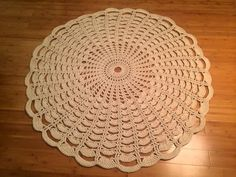 Crochet Rug Breeze by ZHandMade4you on Etsy