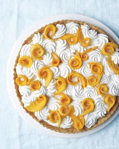 Baby Shower Cakes: This Mango Coconut Cream Tart is almost too pretty to eat. Almost.