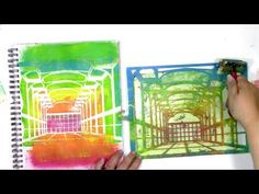 Abstract Art Journal Play that Started with a Gel Print - YouTube