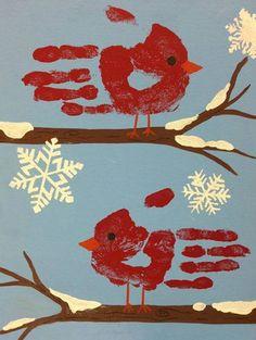 36 Handprint Craft Ideas >Christmas or autumn bird handprint art. gross and fine motor skills:>Christmas or autumn bird handprint art. gross and fine motor skills: