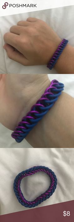 Bracelet (rubber/plastic rings) Cool handmade bracelet! Jewelry Bracelets