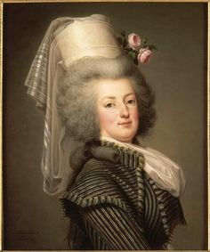 Marie Antoinette, Queen Consort of France; by Adolf Ulrich Wertmuller, c. Wife of King Louis XVI of France. Louis Xvi, Marie Antoinette, Era Georgiana, 2. November, Riding Habit, French Royalty, Maria Theresa, Francis I, French History