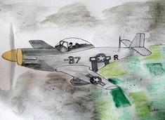 How to draw: A Mustang Aeroplane An Aeroplane, Aeroplanes, Drawing Lessons, Mustang, Arts And Crafts, Drawings, Pretty, Artist, Blog