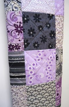 Baby QuiltModern Baby Girl QuiltPurple and by NowandThenQuilts, $95.00