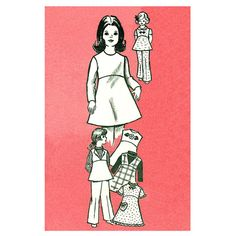 Girls Dress Tunic Pants & Blouse Pattern by finickypatternshop, $8.75