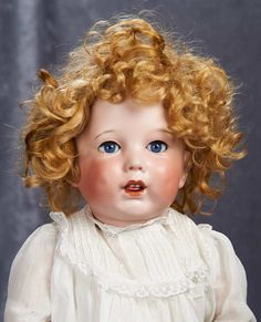 "22"" French Bisque Character, 251, by SFBJ with Original Toddler Body 1100/1300"