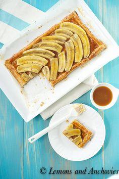 Banana Caramel Tart @Jean Loang | Lemons and Anchovies