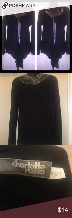 Charlotte Russe throw over top size small Beautiful throw over size small Charlotte Russe Tops Tunics