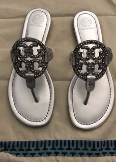 bbc62be168c49 Authentic Miller Embellished Silver Sandal TORY BURCH  fashion  clothing   shoes  accessories