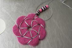 Huovutettu heijastin Hobbies And Crafts, Washer Necklace, Safety, Halloween, Knitting, Crochet, Jewelry, Security Guard, Jewlery