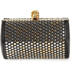 a376bfb5ecb4ca Alexander McQueen Hexagon Studded Box Clutch ($1,450) ❤ liked on Polyvore  featuring bags,