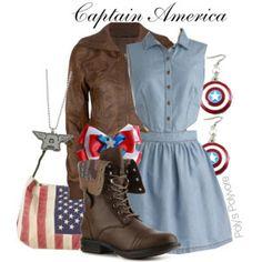 DisneyBound Marvel | Captain America