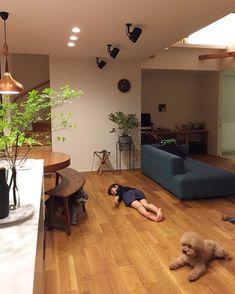 minminさんはInstagramを利用しています:「・ ・ こんばんは〜✨ 今日も来客にてバタバタ💦 フェンスも全く進まず😅💧 ・ お昼頃チラッと水遣りに庭に出たら スズメガの幼虫がオリーブの木にウヨウヨ😭💦 もう思い出しただけでも吐きそうです😭食欲ないです😭💦 ・ 娘も夕方から今までお隣さんと…」 Japanese Living Room Decor, Interior Design Living Room, House Design, Interior Design, Home Decor, Interior Design Kitchen Small, House Interior, Home Deco, Ideal Home