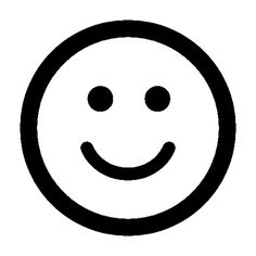 Smiling emoticon square face free icon