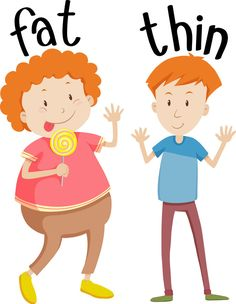 Opposite adjectives fat and thin Royalty Free Vector Image English Activities For Kids, Learning English For Kids, English Worksheets For Kids, English Lessons For Kids, Preschool Learning Activities, English Language Learning, Teaching English, Kids Learning, Opposites For Kids