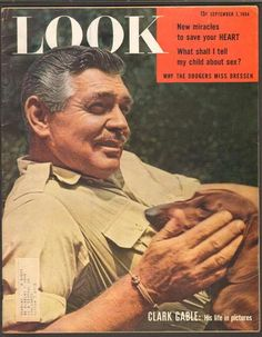 "Clark Gable on the front cover of ""Look"" magazine, September 7th 1954."