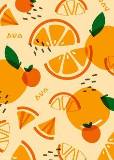 Oranges – Fruit Pattern Art Print by colorandpatterns Zebra Wallpaper, Wallpaper Wall, Orange Wallpaper, Pattern Wallpaper, Islamic Wallpaper, Motif Tropical, Tropical Pattern, Tropical Flowers, Abstract Illustration
