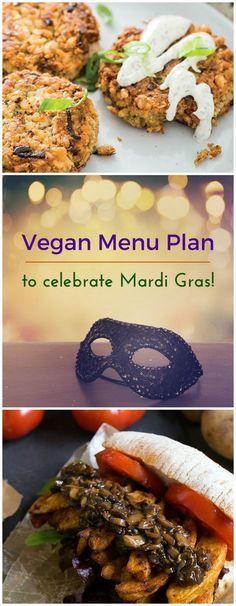 Celebrate Mardi Gras all week long with this vegan menu plan full of veganized Creole and Cajun recipes!