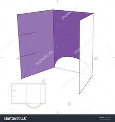 Brochure Folder With Die Cut Layout Stock Vector Illustration 194051936 : Shutterstock