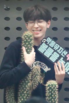 Wonwoo hugging a cactus.precious yet I feel scared for him. Mingyu Wonwoo, Seungkwan, Woozi, Seventeen Wonwoo, Seventeen Debut, Hip Hop, Vernon Chwe, Rapper, My Little Corner
