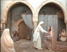 Magificate - Elizabeth and Blessed Virgin Mary Visitation (Jesus of Nazareth Olivia Hussey)