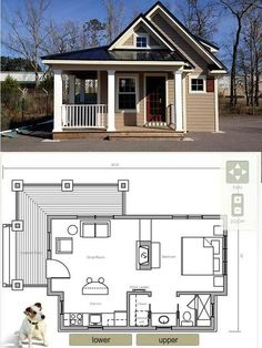 Micro tiny house floor plans micro house on wheels plans inspirational tiny Small House Plans, House Floor Plans, Micro House Plans, Cabins And Cottages, Small Cabins, Tiny House Living, Rest House, Little Houses, Tiny Houses