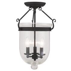 Livex Lighting Jefferson Black Ceiling Mount 5062-04