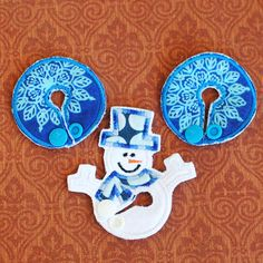 LIMITED TIME Snow Flake, Snowman Belly Dots and Belly Shapes GTube JTube Button Covers by aHaDesigns2 on Etsy, $5.00