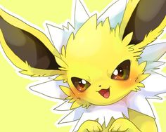 Jolteon is soo adorable Pokemon Team, Pokemon Stadium, Pokemon Fan Art, Pokemon Eeveelutions, Eevee Evolutions, Chibi, Pikachu, Anime Furry, Pokemon Pictures