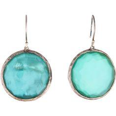 Ippolita Doublet Lollipop Earrings ($325) ❤ liked on Polyvore featuring jewelry, earrings, bezel set earrings, french hook earrings, blue earrings, earrings jewelry and ippolita