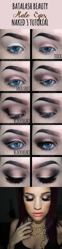 Batalash Beauty Halo eyes for NAKED 3 URBAN DECAY Tutorial and Pictorial