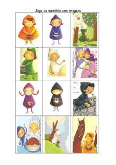 Chapeuzinhos coloridos jogo memoria