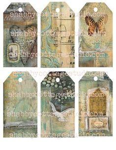 collage tags digital tags