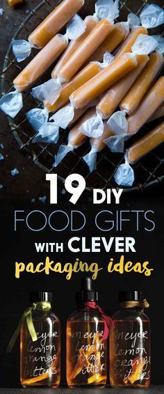 DIY easy to make homemade food gift ideas. 19 Edible Gifts For People Who Love Food More Than Anything With Clever Packaging Ideas Diy Food Gifts, Diy Holiday Gifts, Edible Gifts, Jar Gifts, Craft Gifts, Homemade Christmas Gifts Food, Food Crafts, Baked Gifts For Christmas, Homemade Food Gifts In A Jar