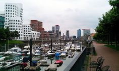 Düsseldorf's Media Harbor has a lot of extravagant architecture: a perfect backdrop for a run along the Rhine River