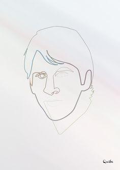 One line Leo Messi Art Print