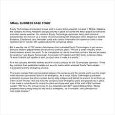 case study for business