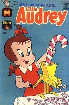 Little Audrey Harvey Bronze Age Cartoon Character Comics Comics Und Cartoons, Children's Comics, Funny Comics, Old Comic Books, Vintage Comic Books, Comic Book Covers, Vintage Cartoons, Vintage Comics, Classic Comics
