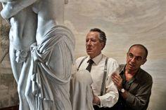 Still of Geoffrey Rush and Giuseppe Tornatore in La migliore offerta (2013)